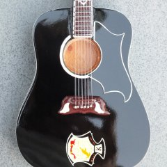 RGM644 Elvis Presley Dove Ebony Custom Black Acoustic
